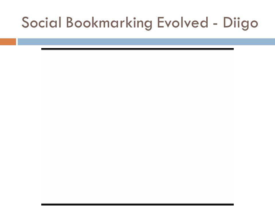 Social Bookmarking Evolved - Diigo