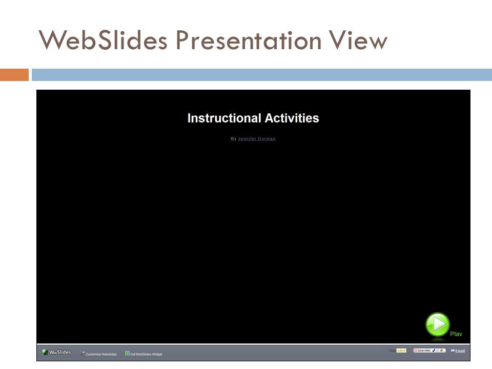 WebSlides Presentation View