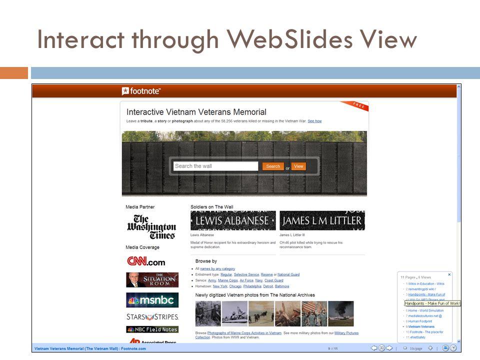 Interact through WebSlides View