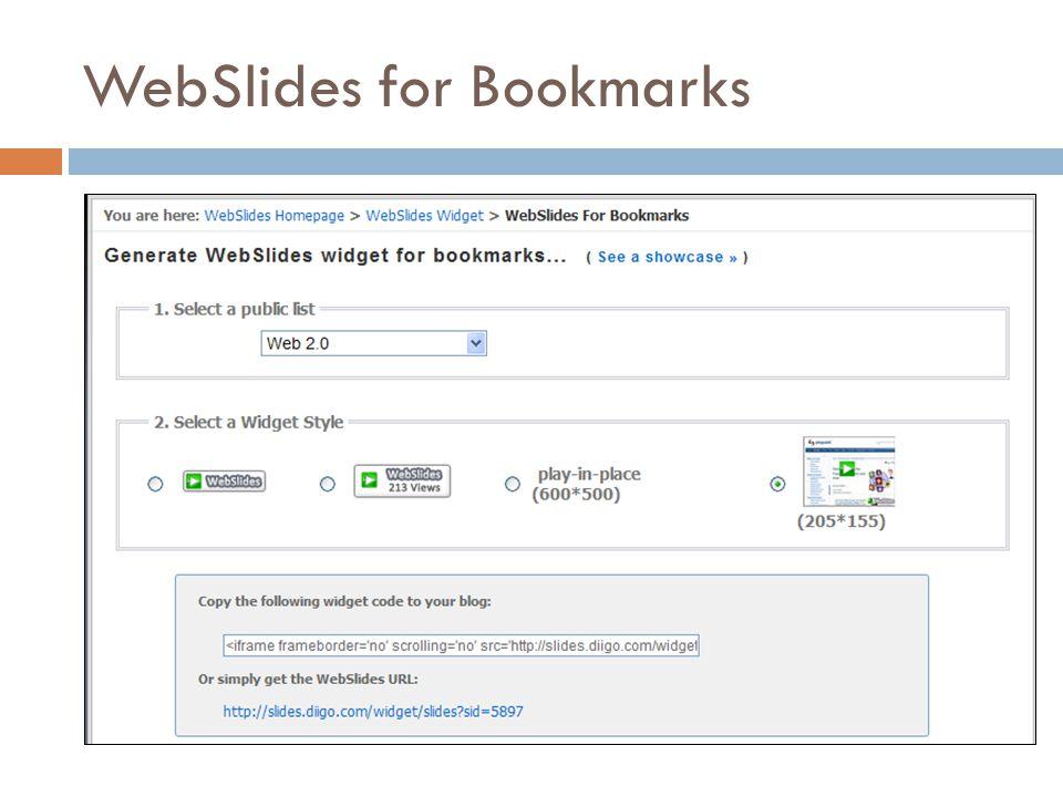 WebSlides for Bookmarks