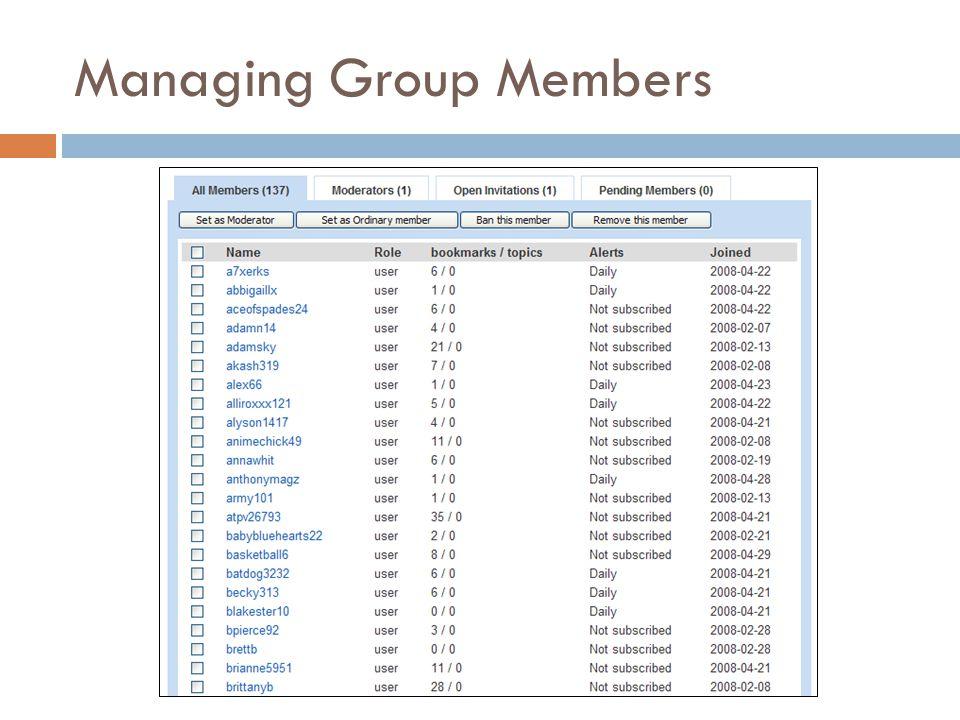 Managing Group Members