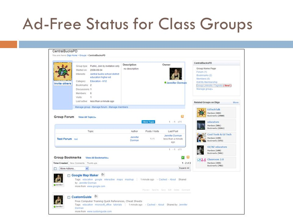Ad-Free Status for Class Groups