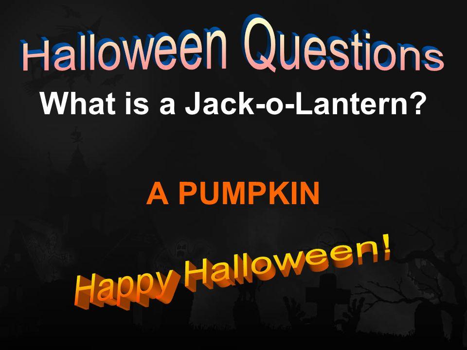 What is a Jack-o-Lantern? A PUMPKIN