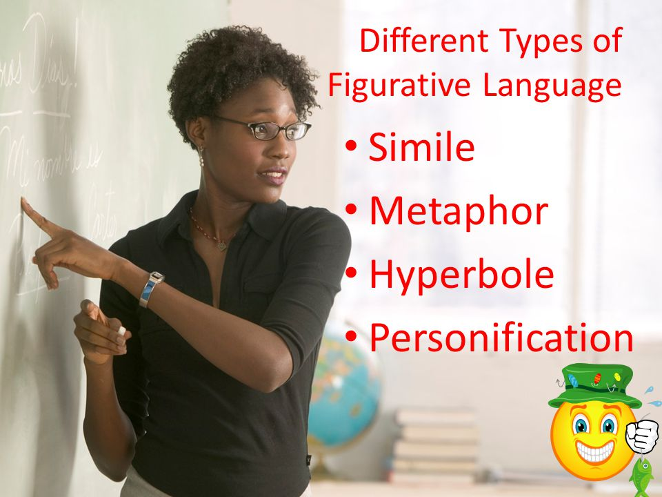 Different Types of Figurative Language Simile Metaphor Hyperbole Personification