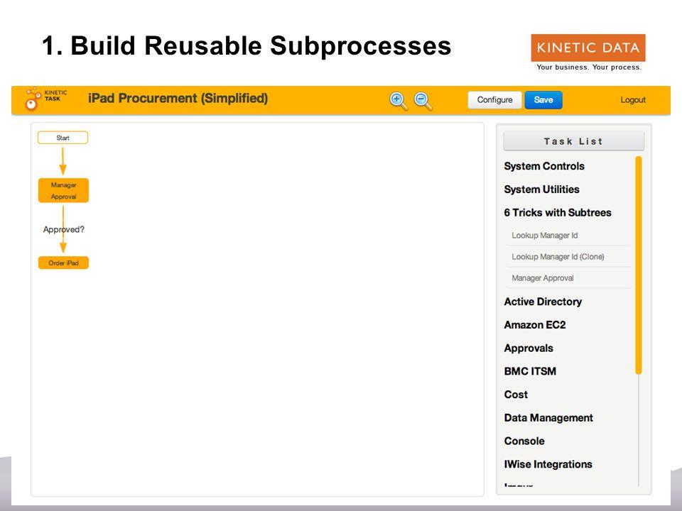 20 1. Build Reusable Subprocesses
