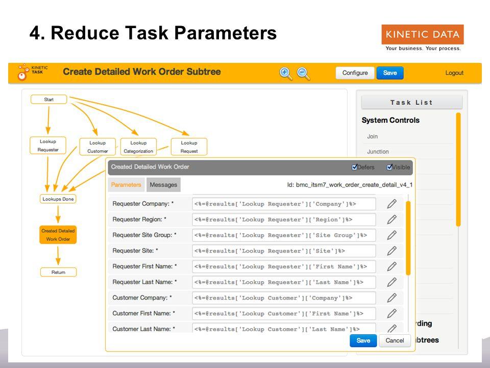 41 4. Reduce Task Parameters