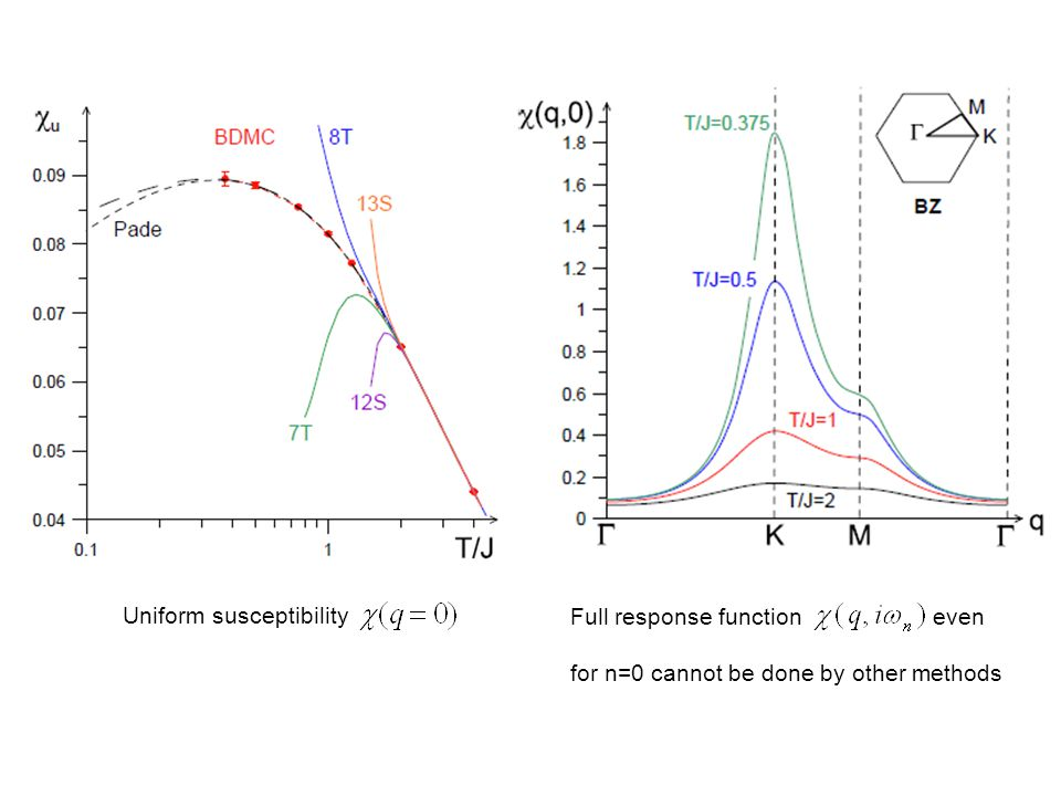 Uniform susceptibility Full response function even for n=0 cannot be done by other methods