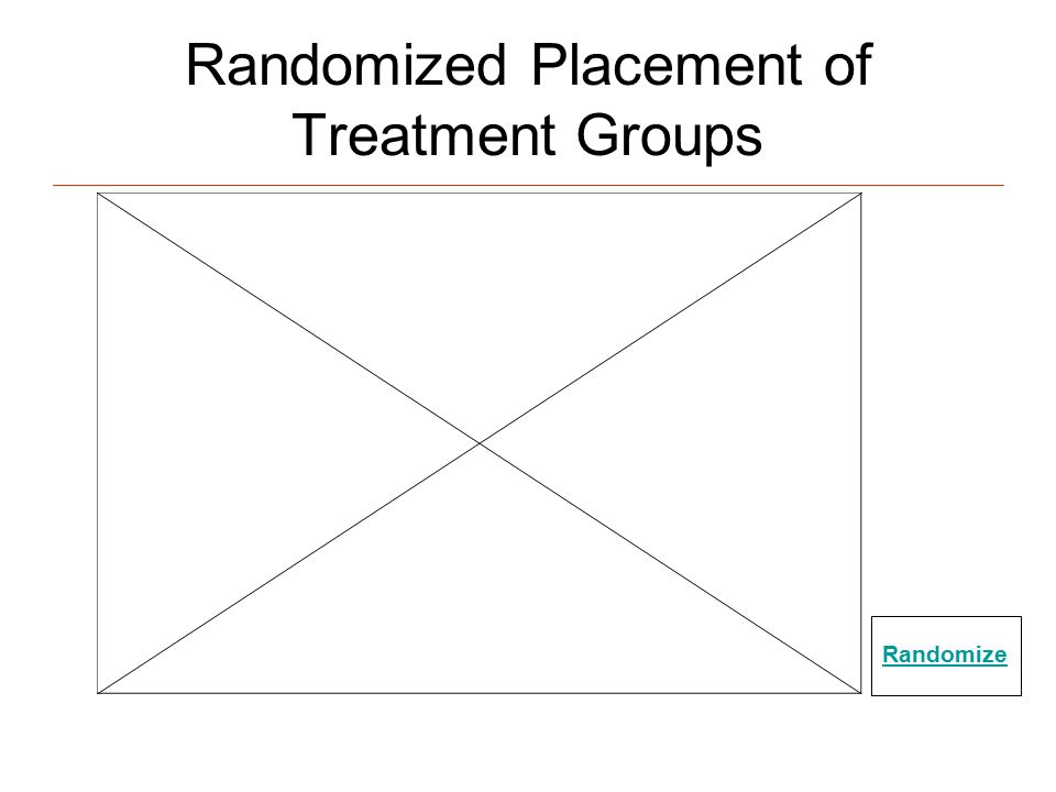 Randomized Placement of Treatment Groups Randomize