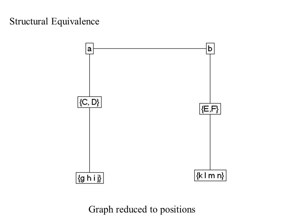 Structural Equivalence Graph reduced to positions