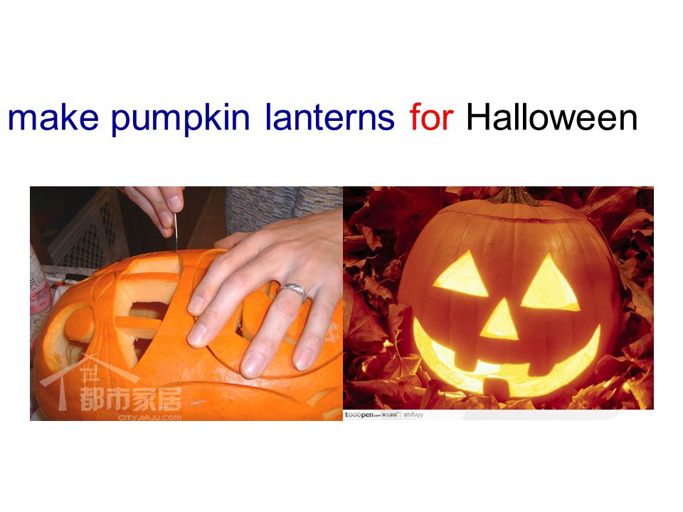 make pumpkin lanterns for Halloween