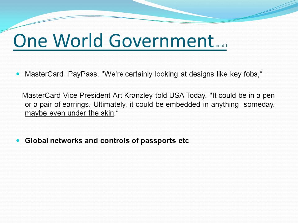 MasterCard PayPass.
