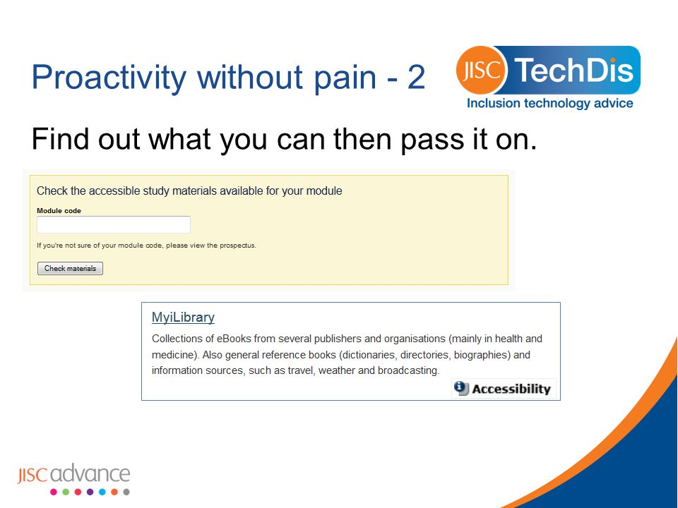 Proactivity without pain - 2 Find out what you can then pass it on.