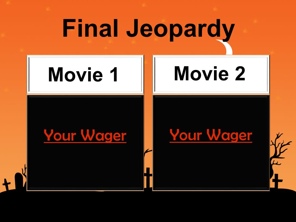 Final Jeopardy Movie 1 Movie 2 Your Wager