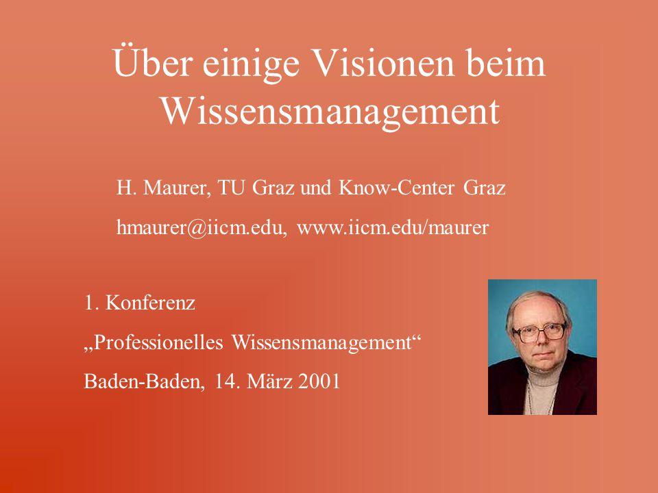 Über einige Visionen beim Wissensmanagement H.