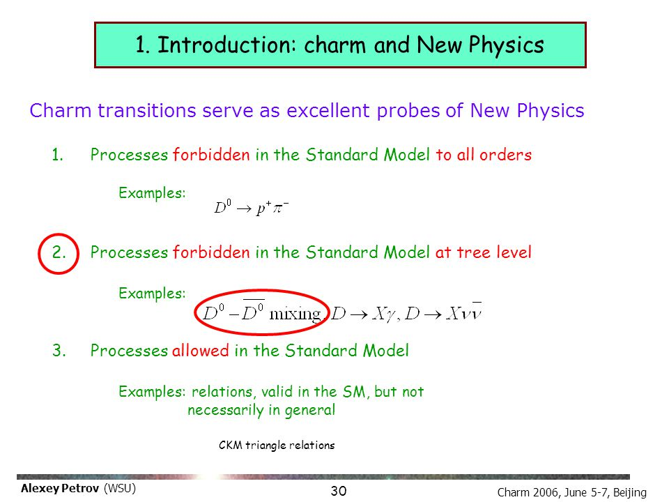 Charm 2006, June 5-7, Beijing Alexey Petrov (WSU) D-mixing is the last chance to see New Physics in meson oscillations!!.