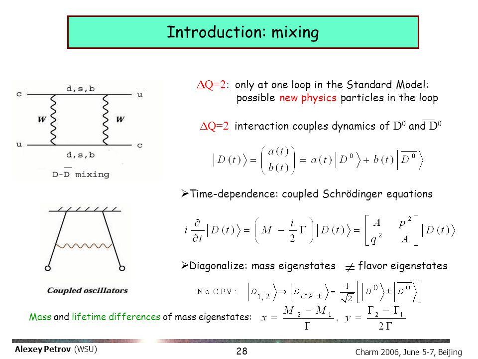 Charm 2006, June 5-7, Beijing Alexey Petrov (WSU) Resume: model-independent computation with model-dependent result 17