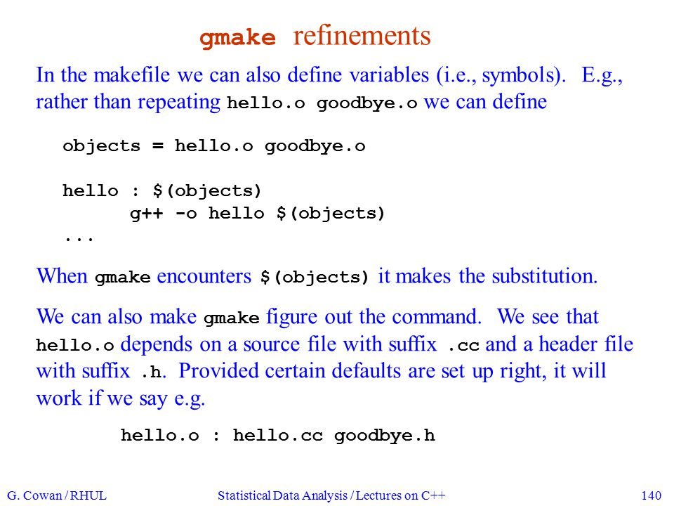 gmake for experts makefiles can become extremely complicated and cryptic.