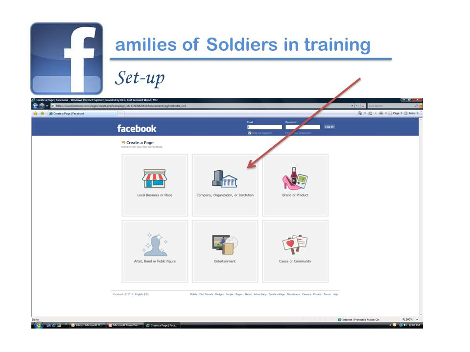 amilies of Soldiers in training Set-up