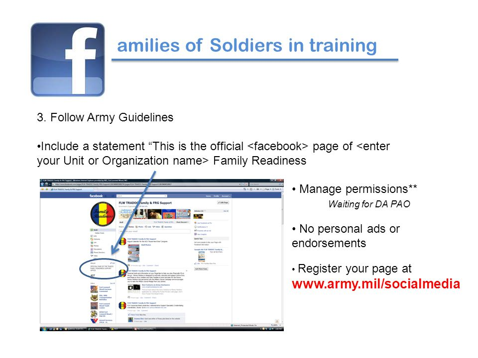 amilies of Soldiers in training 3.