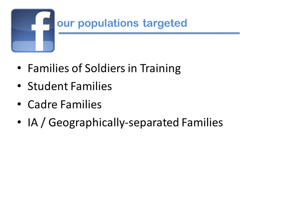 1 BN Level Cadre FB Page (Group) Trainee Family FB Page (Fan) Maintained at Company Level or BN.