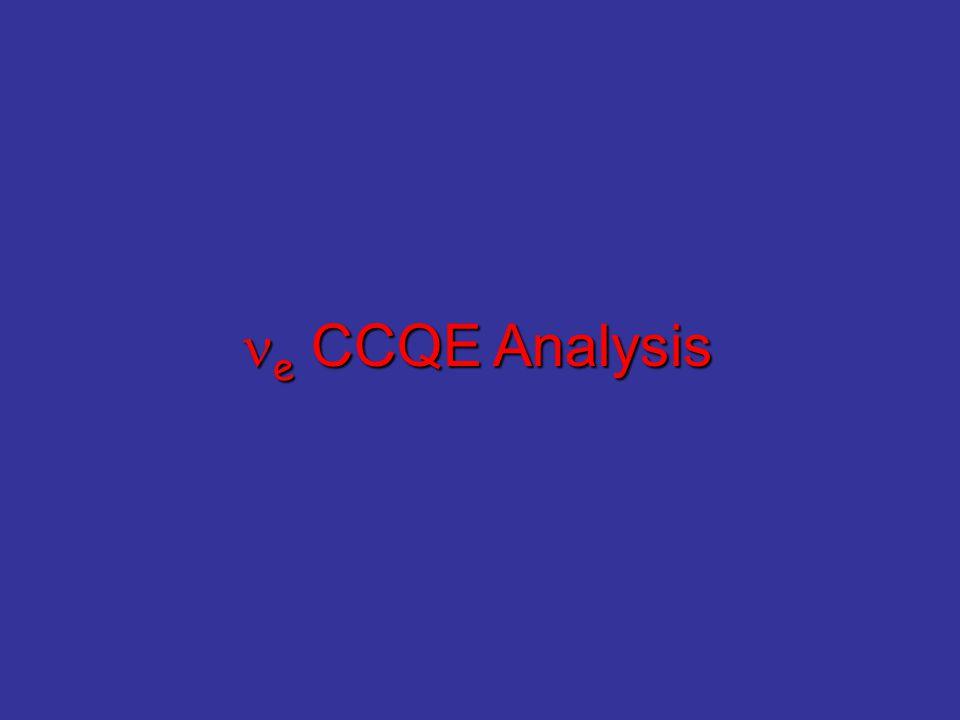 e CCQE Analysis e CCQE Analysis