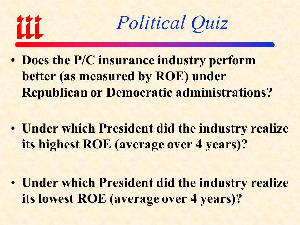 PRESIDENTIAL POLITICS & P/C PROFITABILITY