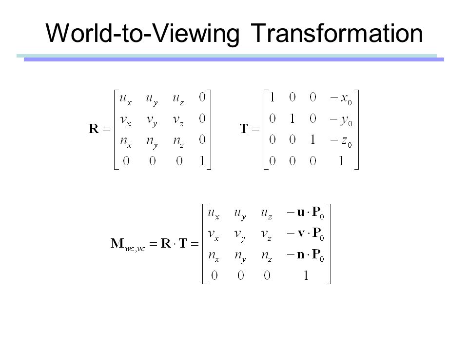 World-to-Viewing Transformation