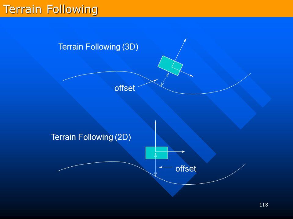118 Terrain Following (3D) Terrain Following (2D) offset Terrain Following