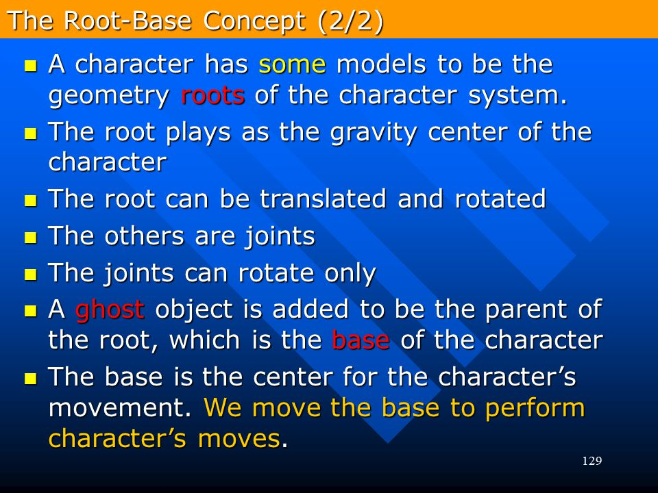 129 A character has some models to be the geometry roots of the character system. A character has some models to be the geometry roots of the characte