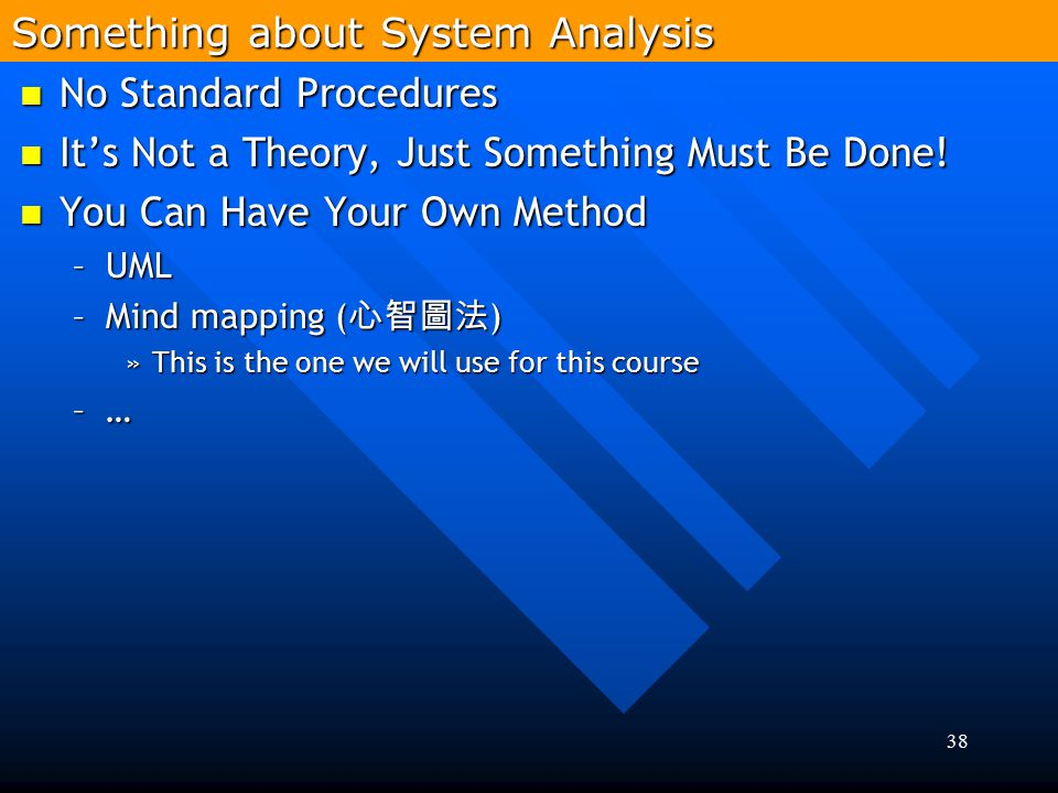38 No Standard Procedures No Standard Procedures It's Not a Theory, Just Something Must Be Done! It's Not a Theory, Just Something Must Be Done! You C