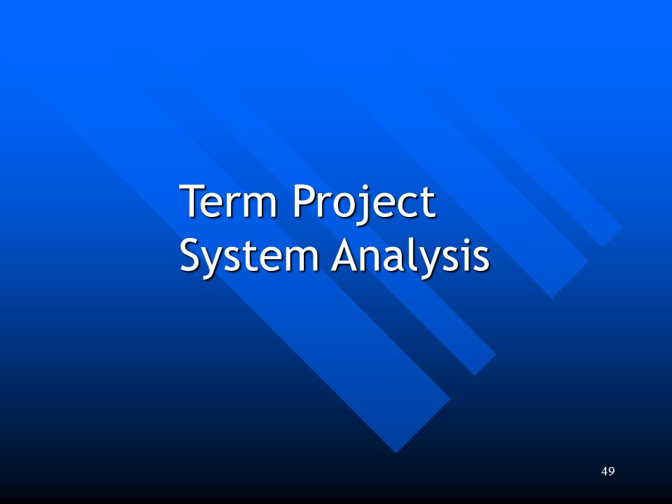 49 Term Project System Analysis