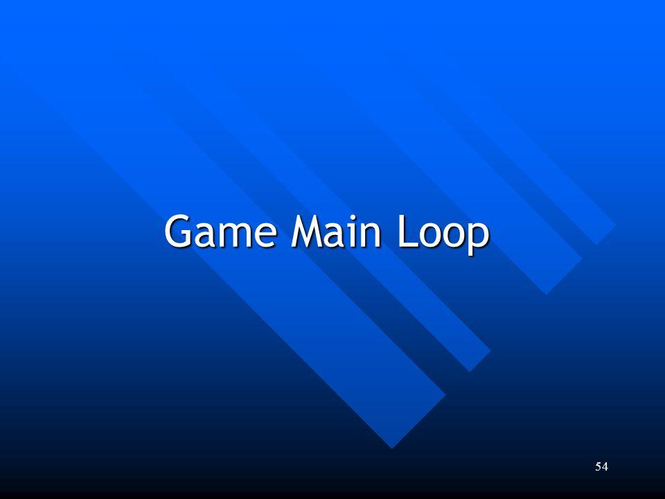 54 Game Main Loop