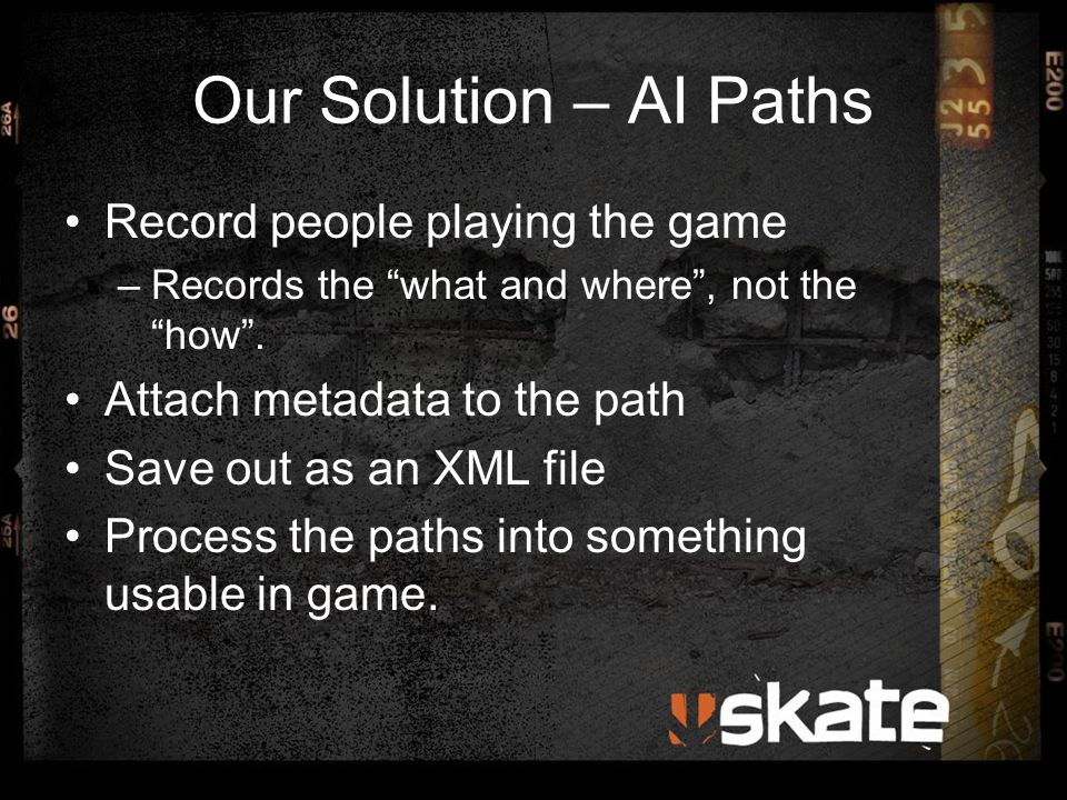 Automated Testing AI Controller could be attached to any skater.