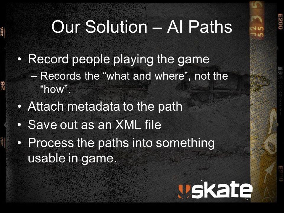 Path Recording Store nodes at varying intervals whilst skating.