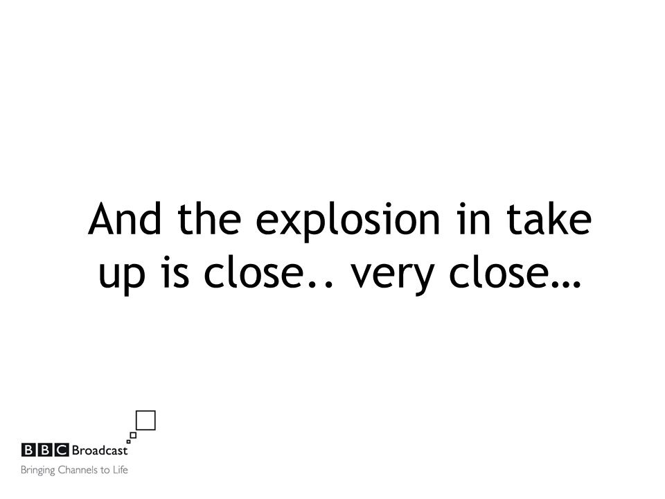 And the explosion in take up is close.. very close…
