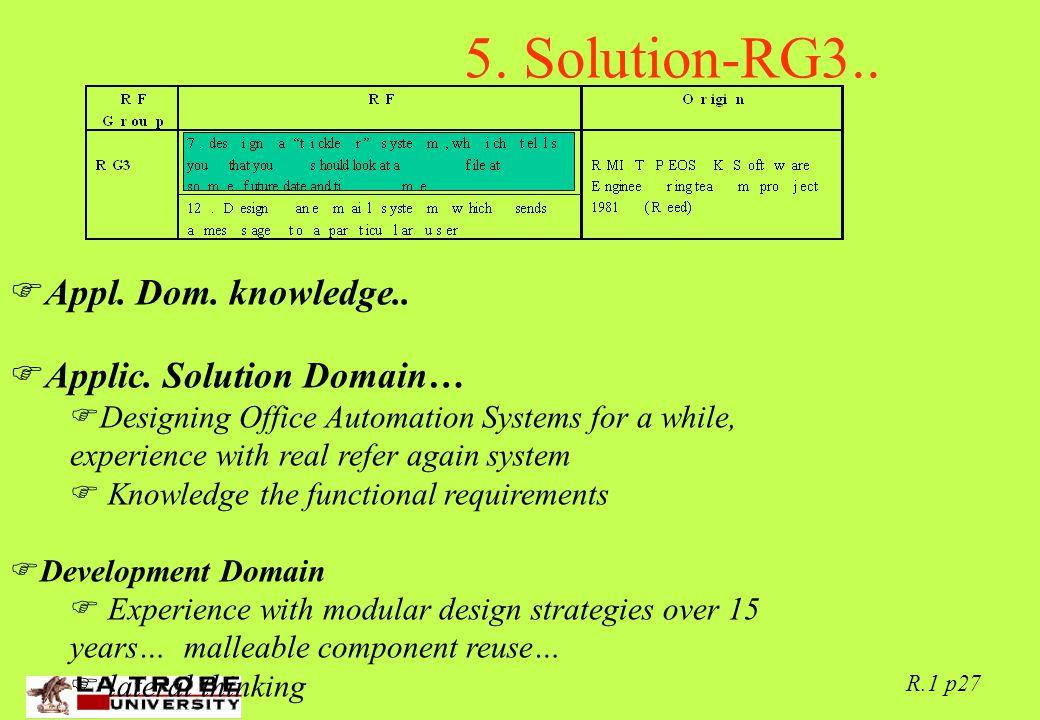 02/06/97 R.1 p27 5. Solution-RG3..  Appl. Dom.