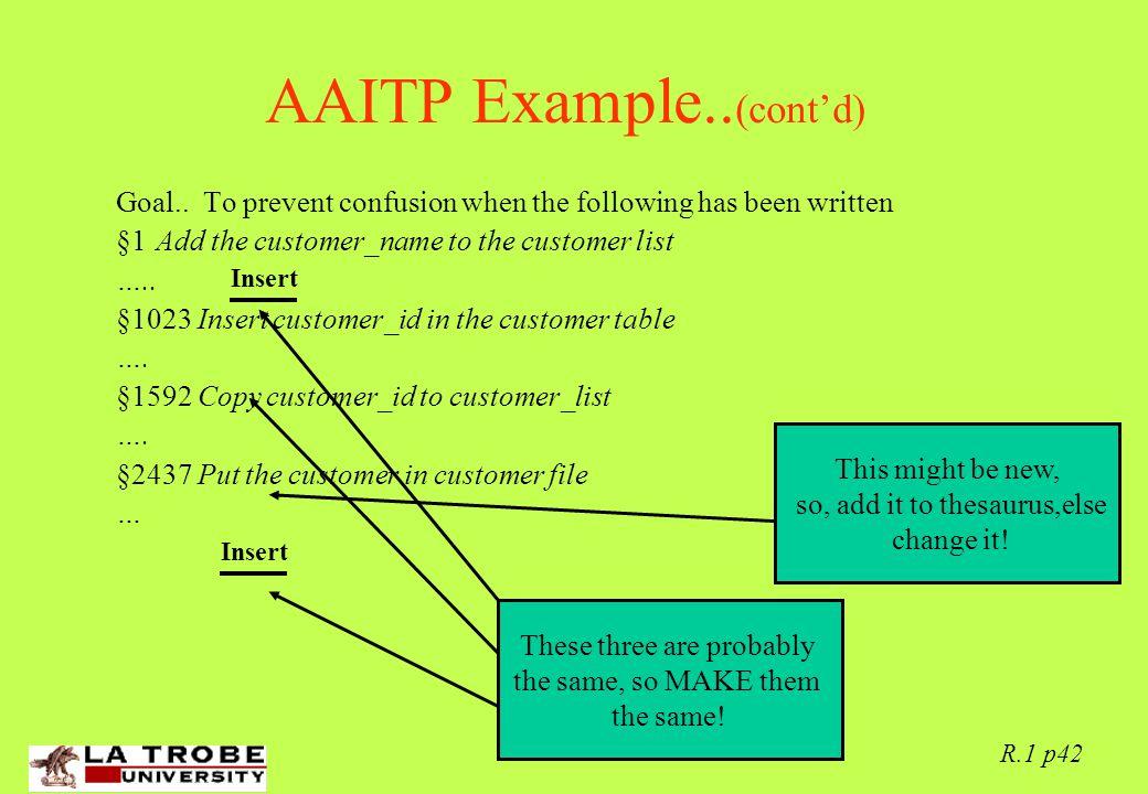 02/06/97 R.1 p42 AAITP Example.. (cont'd) Goal..