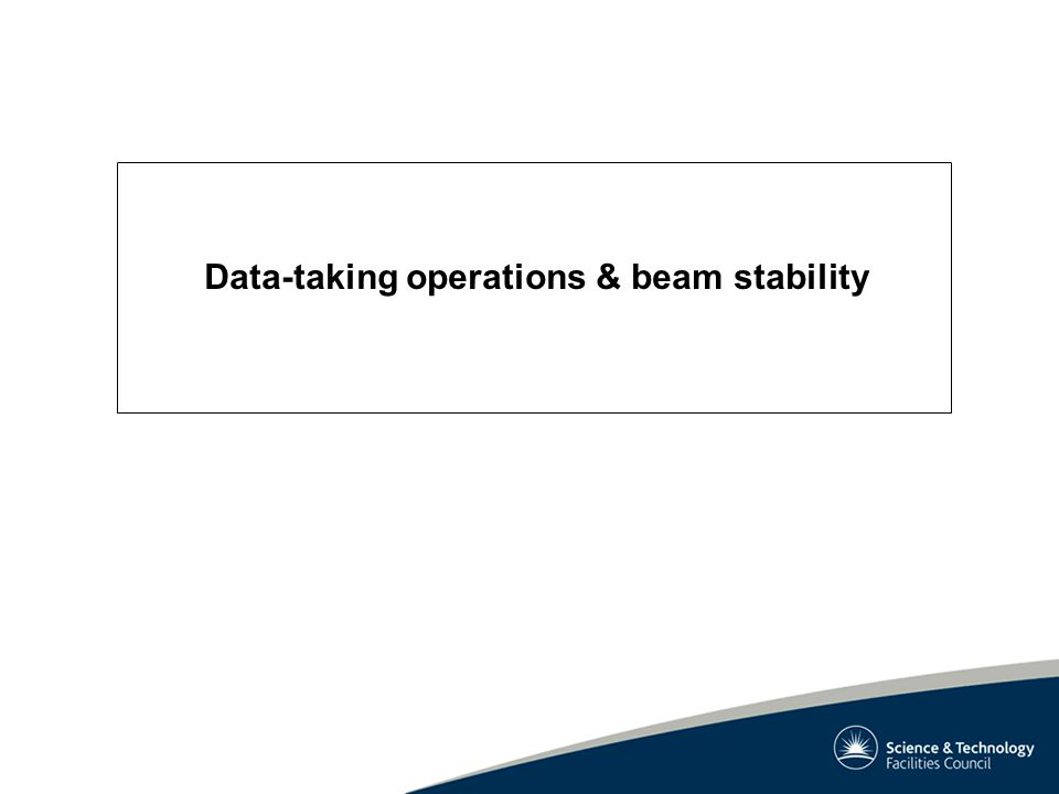 Data-taking operations & beam stability