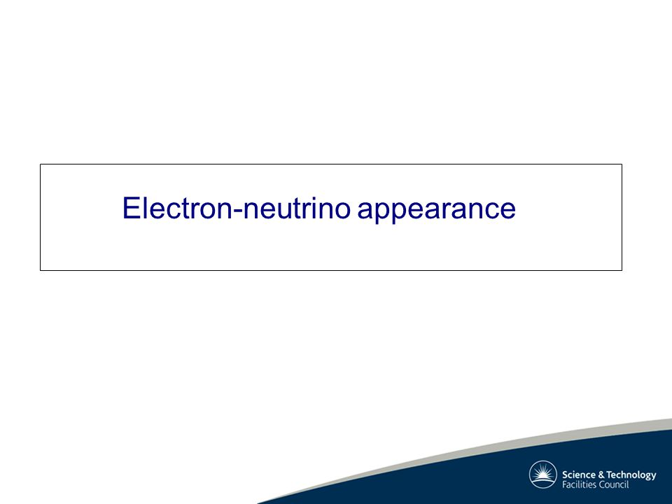 Electron-neutrino appearance