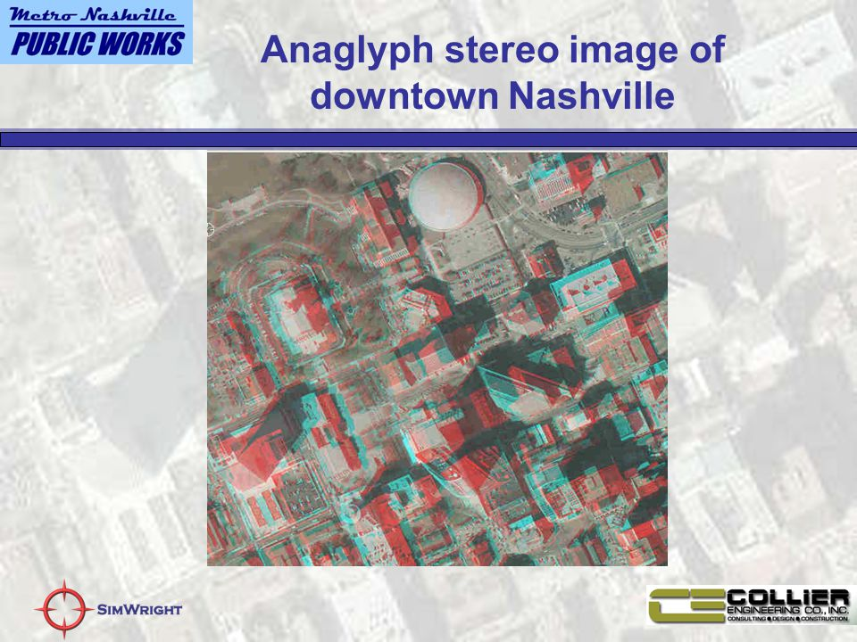 Anaglyph stereo image of downtown Nashville