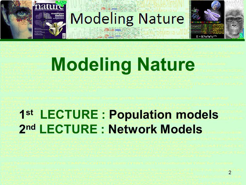 1 Modeling Nature Modeling Nature 12 October 2011