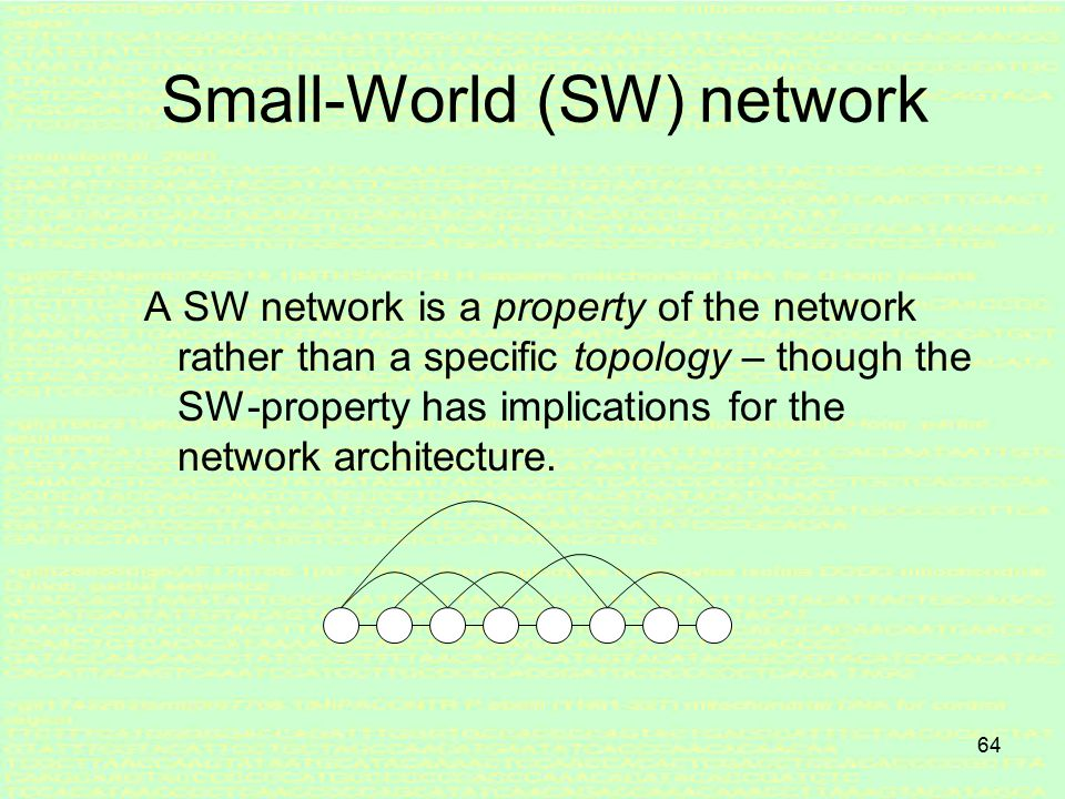 63 4. Random network A random network is a network that is generated by some random process.