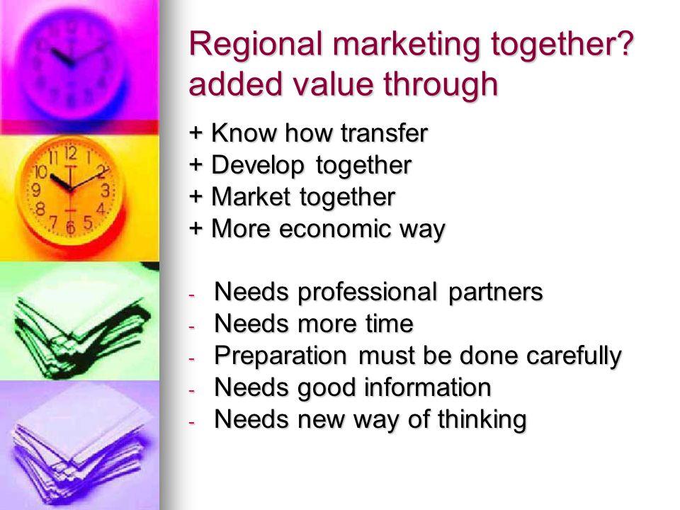 Regional marketing together.