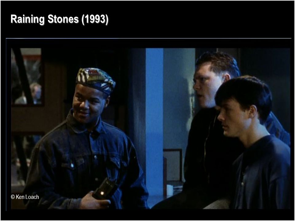 Raining Stones (1993) Night-time economy Outsiders Invisible workforces Unseen professions Anonymity © Ken Loach