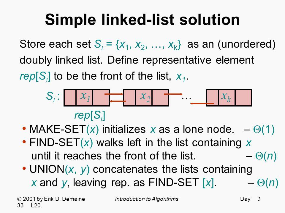 4 Simple balanced-tree solution Store each set S i = {x 1, x 2, …, x k } as a balanced tree (ignoring keys).