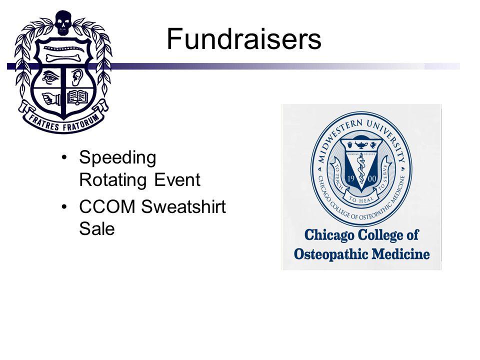 Fundraisers Speeding Rotating Event CCOM Sweatshirt Sale