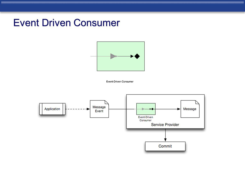 Event Driven Consumer
