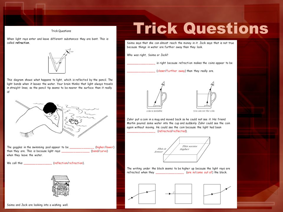 Trick Questions