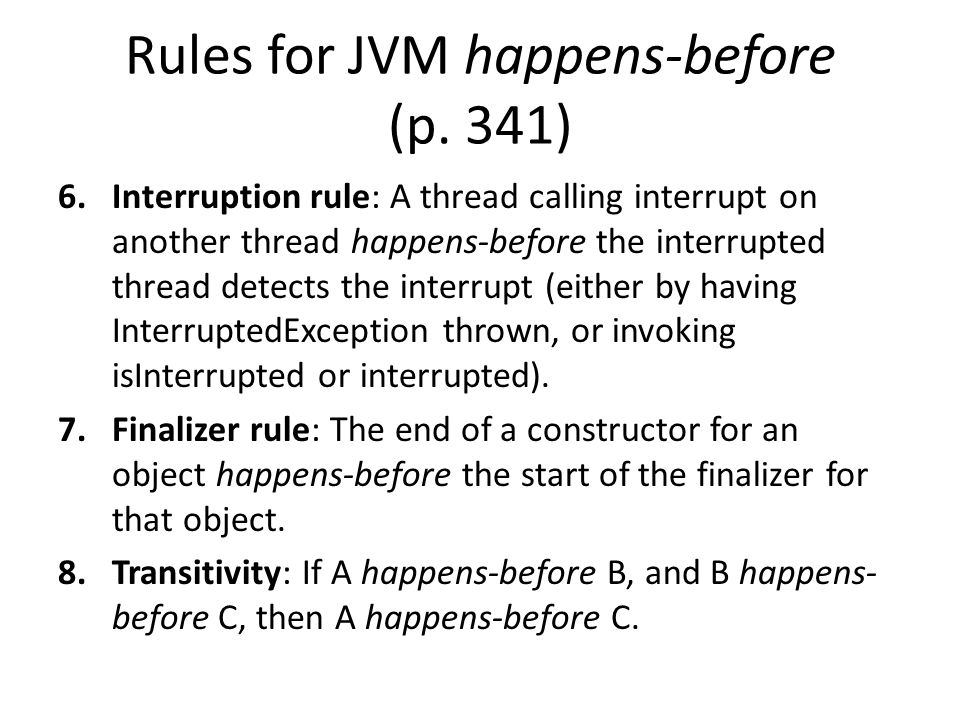 Rules for JVM happens-before (p.