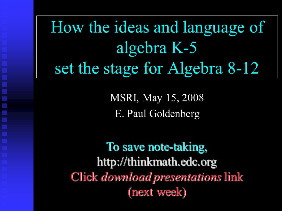 Using notation: following steps Think of a number.